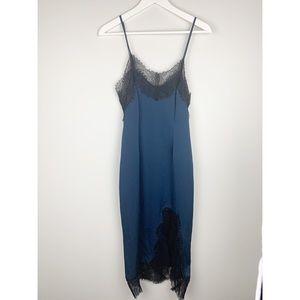Keepsake the Label blue and black slip dress